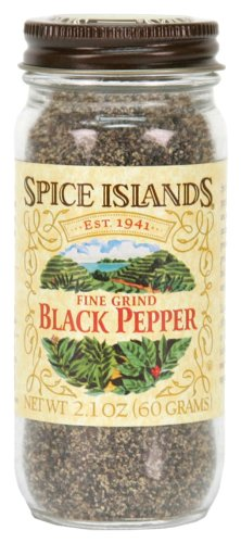 Spice Islands Pepper, Black Fine Ground, 2.1-Ounce (Pack of 3)