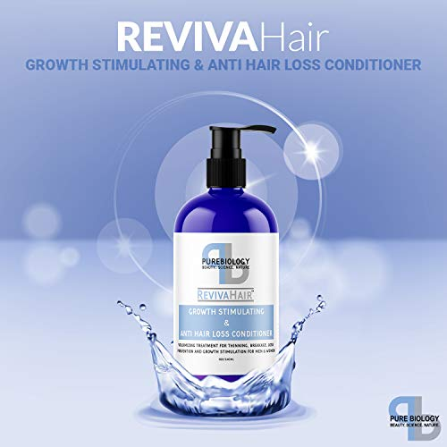 Pure Biology Hair Growth Stimulating Conditioner with Biotin Keratin Argan Oil Coconut Oil Vitamins