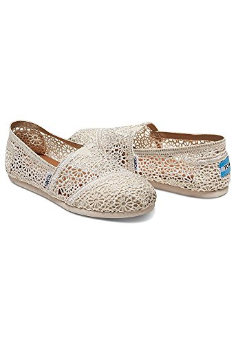 Davids Bridal Toms Crochet Classic Slip-On Shoe Style 10007858 Natural GpBSJoX