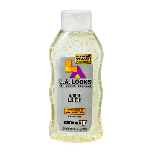 L.A. LOOKS Wet Look Styling Gel X-Treme Hold 20 oz (Pack of 6)