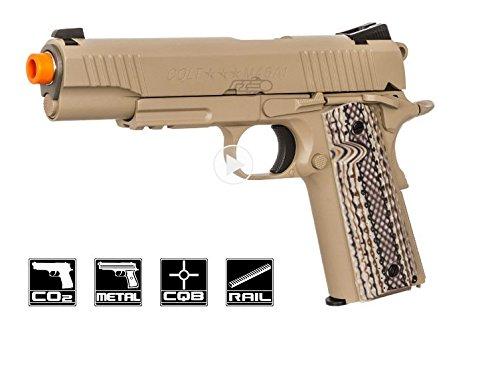Colt M45A1 Airsoft CO2 Rail Gun, Sand