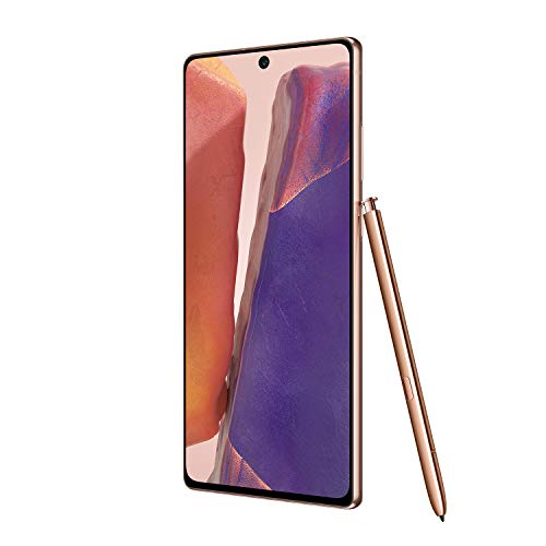 Samsung Galaxy Note 20 5G Factory Unlocked Android Cell Phone, US Version, 128GB of Storage, Mobile Gaming Smartphone, Long-Lasting Battery, Mystic Bronze, SM-N981UZNAXAA