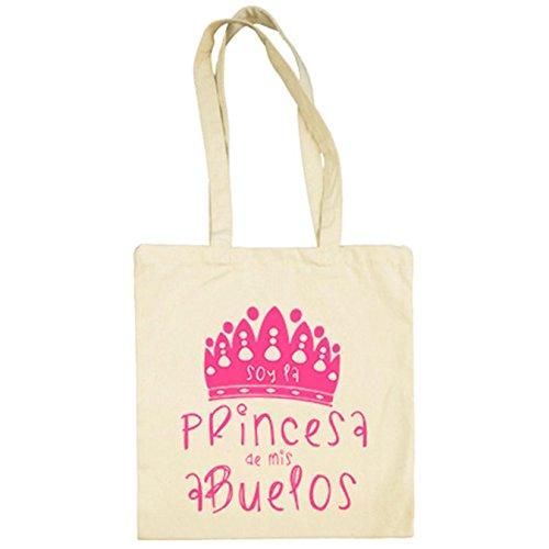 Mis La De Princesa Bolsa Beige Abuelos Soy Tela XpzqB
