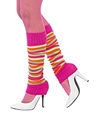 neon striped legwarmers