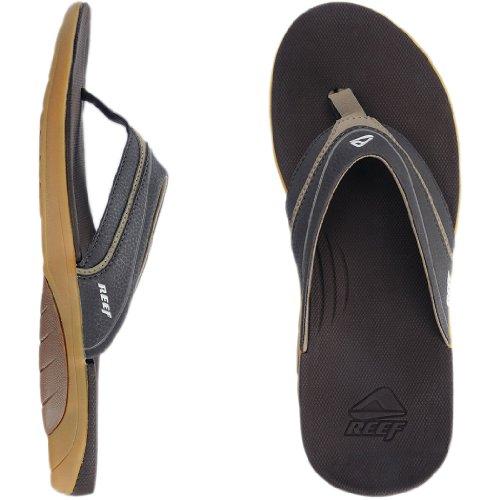 Designs Skate Stinger - Reef Men's Stinger Flip Flop, Dark Brown/Tan, 10 M US
