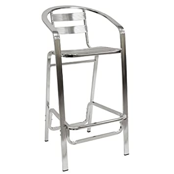 cast aluminum bar stools outdoor overstock contemporary indoor arms crate and barrel