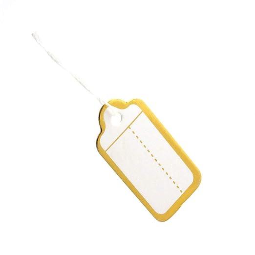 Deinbe 500pcs Papel de Oro Borde de la Etiqueta Corbata de Lazo ...