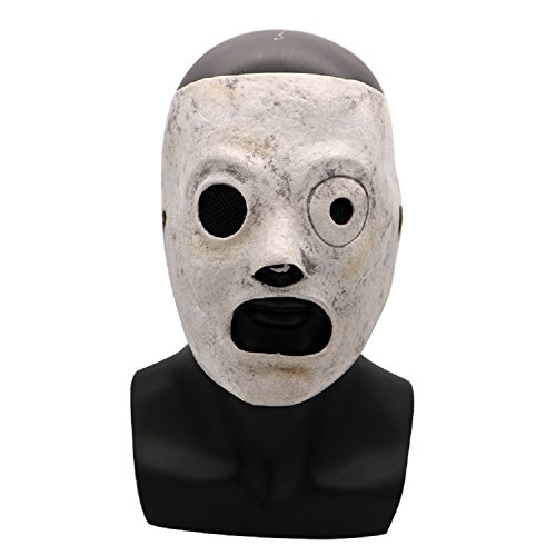 Slipknot Mask Latex Corey Taylor Halloween Cosplay Prop Adjustable Accessory]()