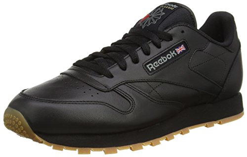 gum intense Black Homme Baskets Classic Noir Leather Reebok qg0wHX