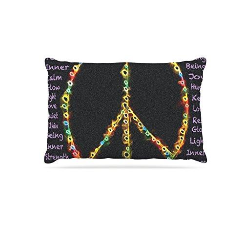 Kess InHouse Anne LA Brie Peaceful Meditation  Black Rainbow Dog Bed, 30 by 40-Inch