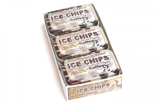 ICE CHIPS Coffee'n'Cream Xylitol Mints 6 Single Tins by Ice Chip Candy