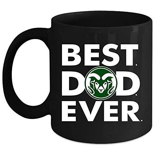 Colorado State Rams Mug, Best Dad Ever Cup (Coffee Mug 15 Oz - Black)