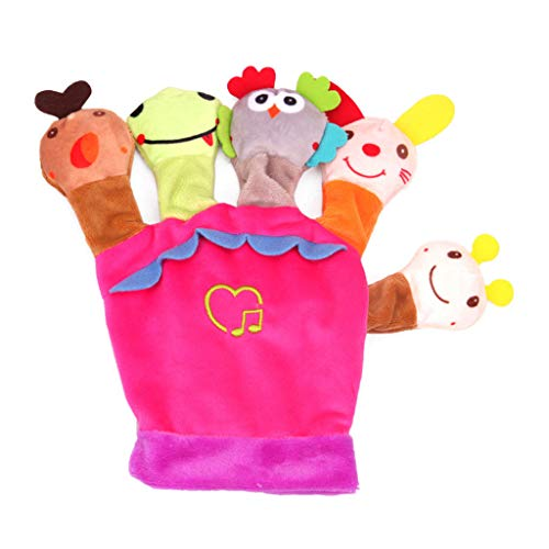 Kids Cute Hand Puppets Toys, Witspace Cartoon Animal Story Telling Educational Gifts Baby Children Boys Girls (Pink)