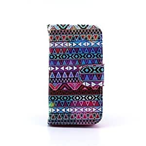 TY-Tribal Tattoo Design Full Body Case with Stand and Card Slot and Money Holder for iPhone 4/4S
