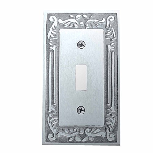 Victorian Switch Plate Single Toggle Chrome Solid Brass | Renovator's (Brass Victorian Switchplate)