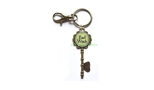 Keychain Good Witch Bad Witch DOUBLE-SIDED Hard Enamel Keychain