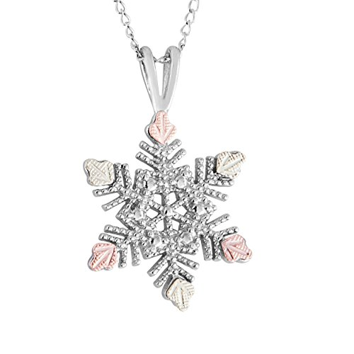 Black Hills Gold on Silver Snowflake Pendant