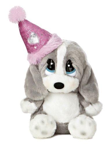 Aurora World Honey Lil Pup Birthday Plush with Hat, - Birthday Happy Teddy