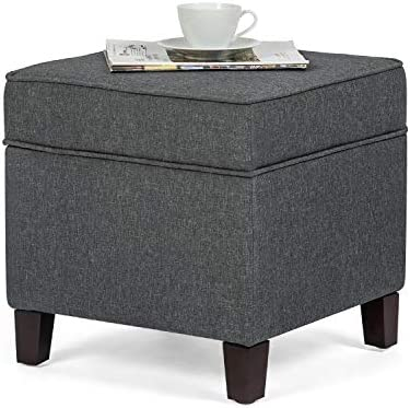 Asense Fabric Square Storage Ottoman Cube Foot Rest