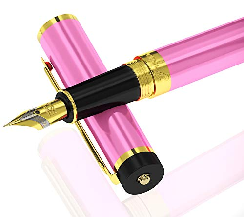 DRYDEN Luxury Fountain Pen [LUSCIOUS PINK] - BEST Fountain Pens Gift Set - Smooth Elegant Writing - Calligraphy - FREE Ink Refill Converter