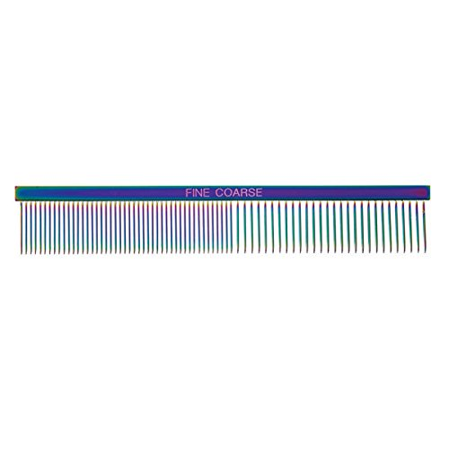 Rainbow Color Greyhound Combs for Dog Grooming Tools 3 Size Sets Available Too(Rainbow Fine/Coarse) by Master Grooming