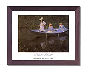 Claude Monet Girl Woman Lake Boat Wall Room Contemporary Picture Framed Art Print