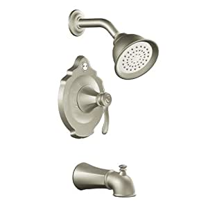 Moen T2503BN Vestige Posi-Temp Tub and Shower Trim Kit without Valve, Brushed Nickel