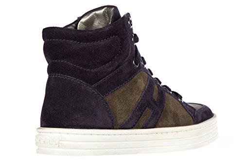 Hogan Sneakers Kinder Schuhe Jungen Kinderschuhe Wildleder rebel blu