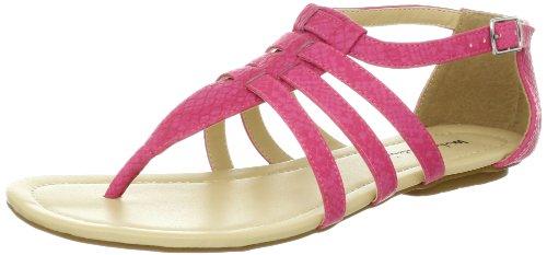 Reptile T-strap Sandal - Michael Antonio Women's Delton Flat,Pink,8 M US