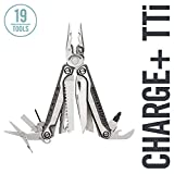 LEATHERMAN - Charge Plus TTi Titanium Multitool with Scissors and Premium Replaceable Wire Cutters, Stainless Steel