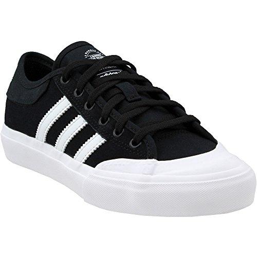 adidas Originals Boys' Matchcourt J Skate Shoe White/Black, 4 Medium US Big Kid
