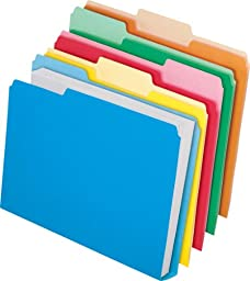 Pendaflex Cutless/Watershed/Double Stuff File Folders, Letter, Assorted Colors, Box of 50 (48437)