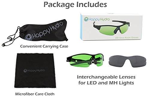 Happy Hydro LED UV Protective Glasses with Green Lenses for Grow Room Hydroponics by Happy Hydro (Image #1)