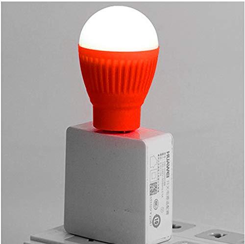 Mini USB Bombilla LED redonda linterna exterior luz nocturna lámpara de emergencia computadora portátil luz de lectura de ahorro de energía Lámpara de camping 3piezas (especifique el color al comprar): Amazon.es: Iluminación