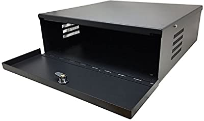 "HDView Heavy Duty 16 Gauge 24"" x 18"" x 5"" DVR Security Lockbox With Lock&Key, Secure Your Surveillance DVR NVR PoE Switch Video Balun"