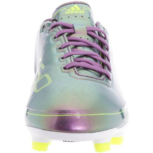 Adidas F30TRX FG J–Schuhe Fußball vor Ort Festplatte Kinder–Violett/Weiß/Gelb