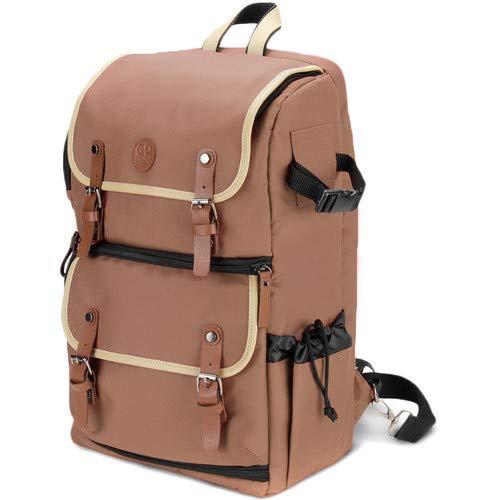DSLR Camera Backpack (Tan) [並行輸入品] B07MQKWX89