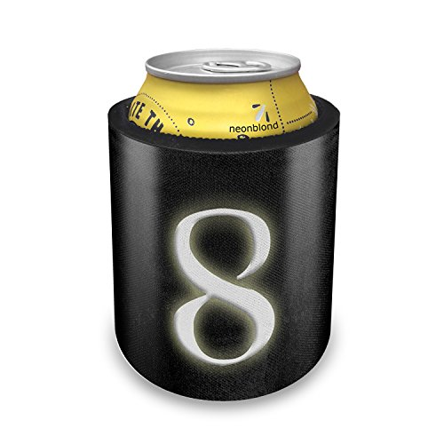 Slap Can Koozie 8 blank characters, letter Insulator Cooler - Neonblond