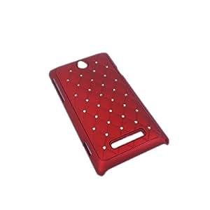 handy-point Zirconia, Funda de plástico para Sony Xperia E, Rojo