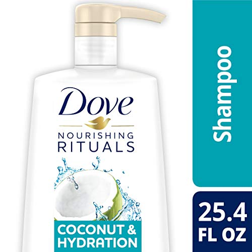 DOVE HAIR Nourishing Rituals Coconut & Hydration Shampoo With Pump, 25.4 Ounce (Dove Shampoo For Dry Hair)