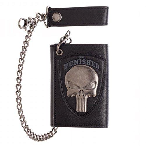 Marvel The Punisher Skull Logo Mens Biker Chain Wallet - Logo Chain Wallet