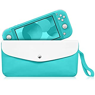 Fintie Carry Case for Nintendo Switch Lite 2019 - Portable Travel Bag Protective Sleeve Pouch w/Side Pocket & Game Card Slots & Holding Strap for Nintendo Switch Lite and Accessories, Turquoise