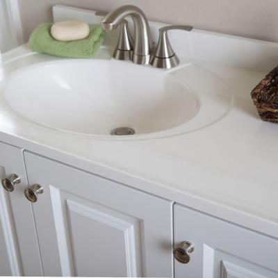 vanity in white with alpine vanity top kitchen u0026 dining