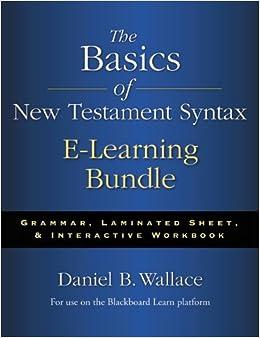 Basics of NT Syntax ELearning Bundle