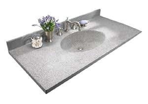 Swanstone Ch1b2237 042 37 Inch By 22 1 2 Inch Chesapeake Vanity Top Gray Granite