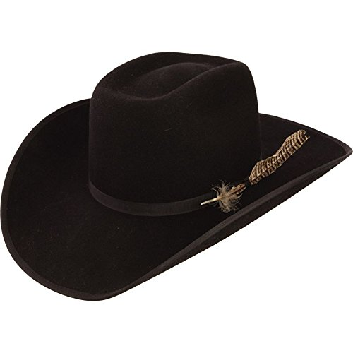 (Resistol Boys Holt Jr B Felt Cowboy Hat O/S Fits 7 & Smaller Black )