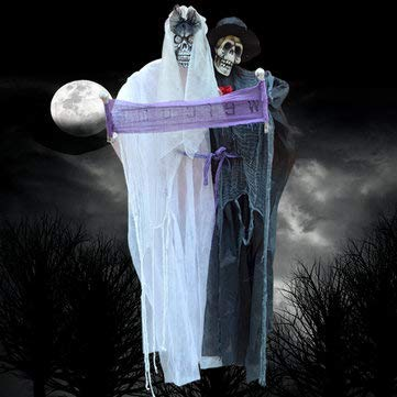 Bumatech Ghost Sound Decoration Halloween Hanging Bridegroom Animated Grim Reaper -