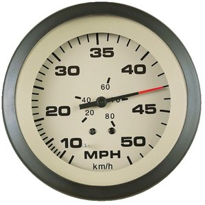 Sierra International 61163P Sahara Pitot Type 10 to 50 Mph Dial Range Scratch Resistant Speedometer Kit, 3""