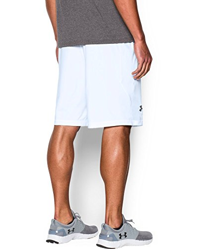 "Under Armour Men's Raid 10"" Shorts, White /Graphite, XX-Large"