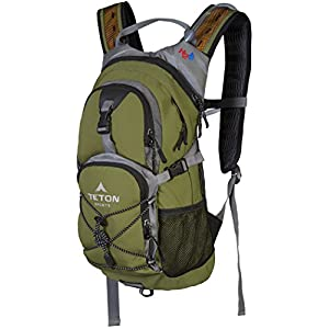 TETON Sports Oasis 1100 2 Liter Hydration Backpack Perfect for Biking, Hiking, Climbing, and Hunting; Green